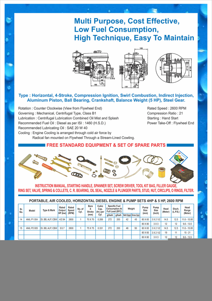 Portable Air Cool Horizontal Diesel Engines – Prem Engineering